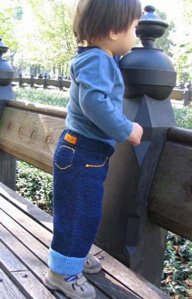Blu - knitted baby jeans