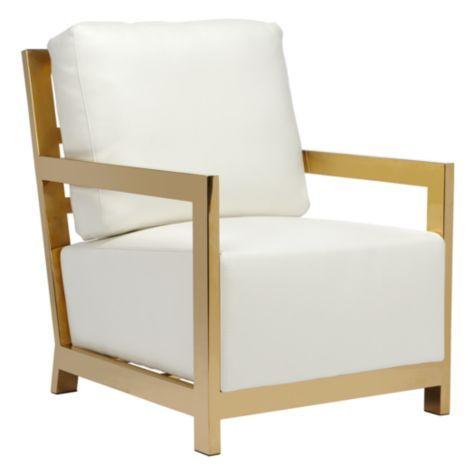 Resultado de imagem para gold steel chair