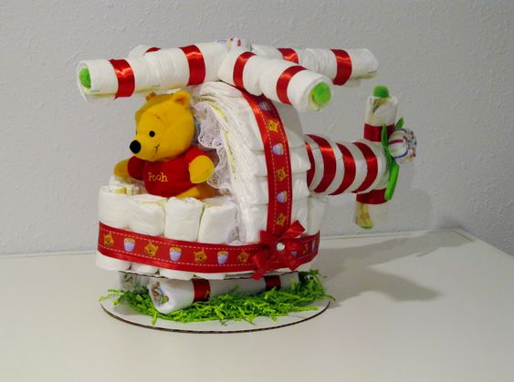 airplane diaper cake instructions