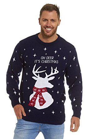 LEKEEZ ® Christmas Xmas Jumper Sweater Mens Ladies Unisex Novelty Classic - OH DEER