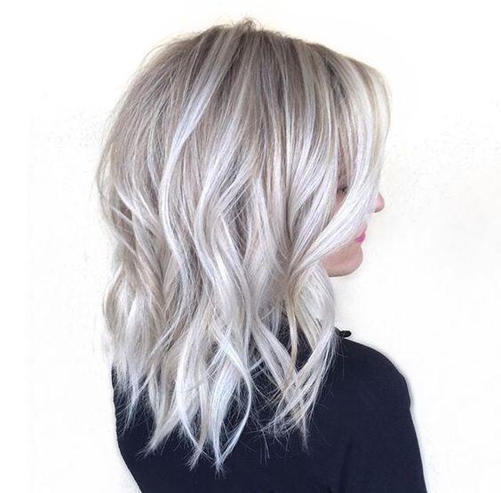 Ideas To Go Blonde Short Icy Balayage Grey Blonde Hair