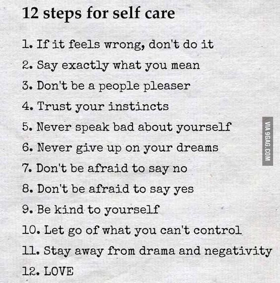 12 steps for self-care - 9GAG