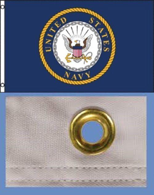 2 Pack 3x5 United States Navy Flag Usn Emblem Banner Us Military Pennant New 810741028986 Ebay Navy Flag United States Navy Flag United States Navy