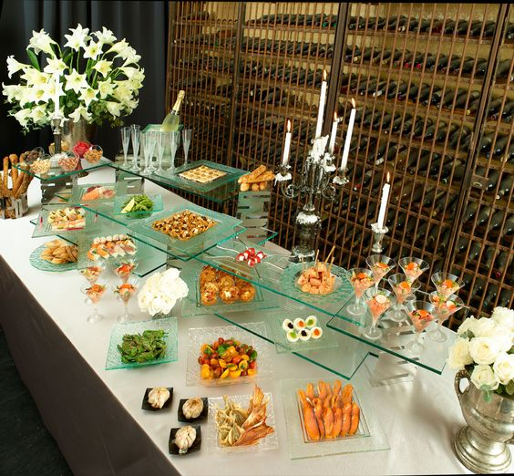 Glasses Food Buffet And Wedding Buffets On Pinterest