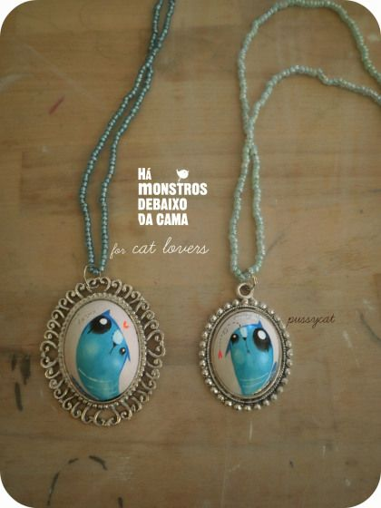 for cat lovers handmade and handpainted necklaces. you can order worldwide!send me a message