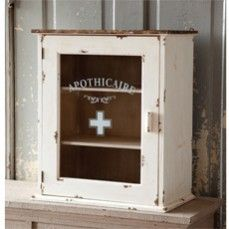 Apothecary French Medicine Cabinet    $112.00@http://www.antiquefarmhouse.com/current-sale-events/eclectic-bathrooms.html