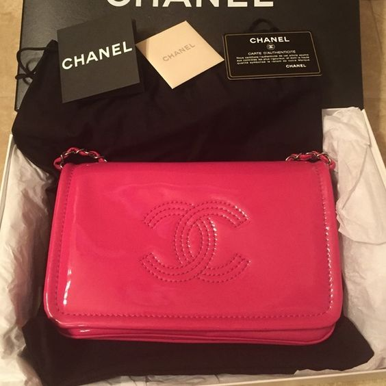 Limited Chanel sac classic bag with flap - fuchsia Limited item! I never seen 2nd one! Used less than 5 times and barely seen sign of use. Lovely vinyl fuchsia light up your day! Size 9 1/2 *6*1-5 inch. Chain height 26 inch. Crossbody or clutch bag. Come with original box, dusty bag and ID cards. No trade ,  thanks! CHANEL Bags Crossbody Bags