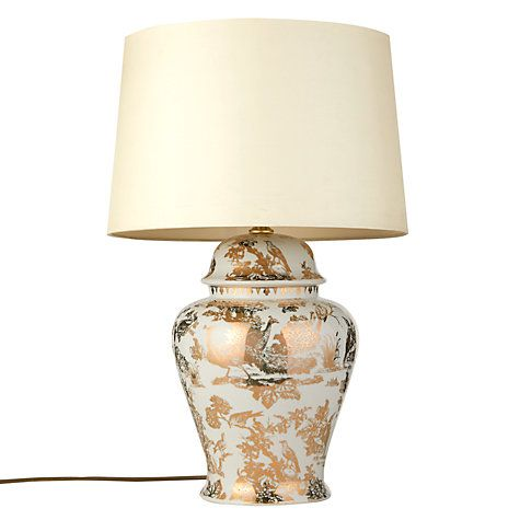 India Jane V A Pea Toile De Jouy, Table Lamps India Jane