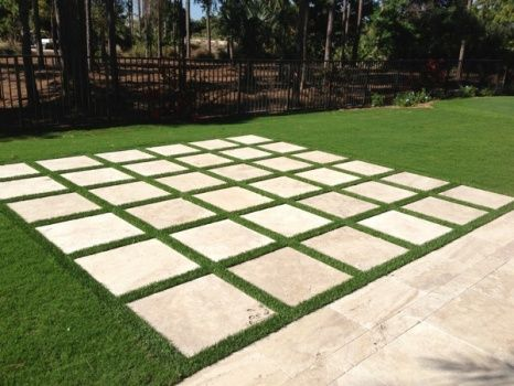 I am so doing the paver and artificial turf in my driveway one day ...