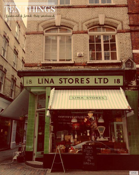 Lina Stores Ltd. italian delicatessen, Brewer street, Soho, London