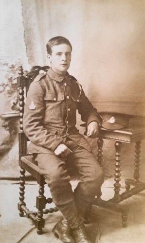 WW-I-British-Real-Photo-Postcard-A-Bandsman-in-The-East-Lancashire-Regiment