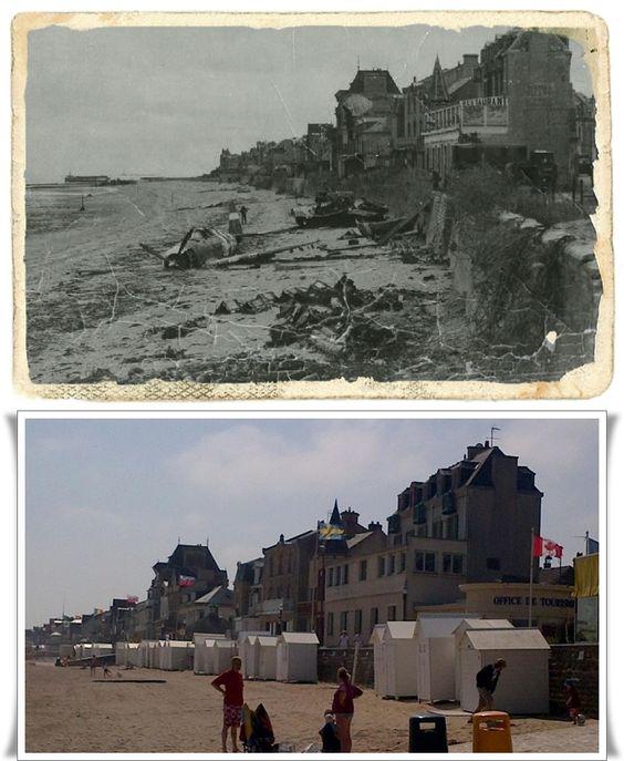 La spiaggia di Saint-aubin-sur mer, dopo lo sbarco Alleato #NORMANDIA1944