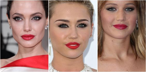Repasamos algunos looks de maquillaje de alfombra roja con labios rojos