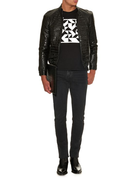 Mid-rise slim-fit jeans    Saint Laurent   MATCHESFASHION.COM