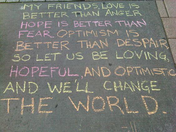 We'll change the world
