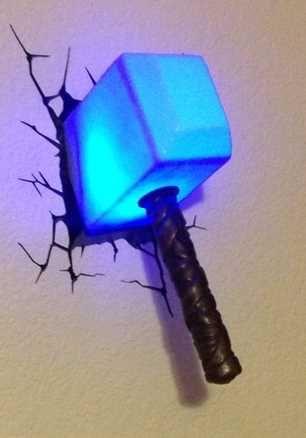 Thor S Hammer Night Light Light Up Using Energy Efficient Led