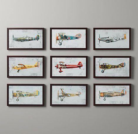 Free vintage airplane printables - for nursery