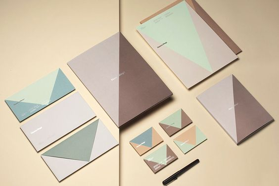 Branding by graphic design studio Atipo for Spanish architecture and interior design firm Mamen Diego.