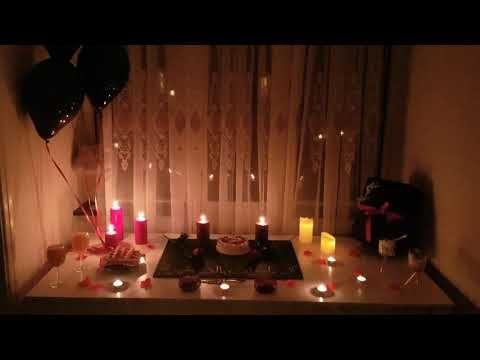 افكار تزيين جديد لاحتفال الفلانتاين اجمل افكار لعيد ميلاد خطيبي تنسيق جديد لعيد الحب Youtube Candlelight Tea Light Candle Tea Lights