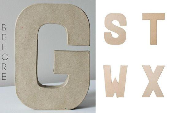 GroopDealz | Paper Mache DIY Letters