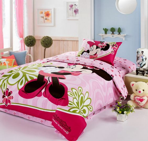 Minnie Mouse Pink Disney Bedding Sets: Bed Sets, Bedding Twin,  Comforter, Comforter Sets, Mickey Mouse Bed, Mickey Minnie Mouse, Mouse Bedding, Bedding Sets, Bedding Minnie