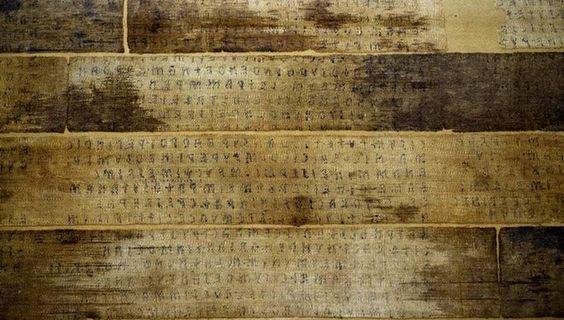 El libro etrusco del siglo III a.C. que apareció en Egipto, usado para vendar una momia