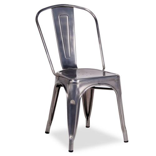 Silla tolix style metal cepillado