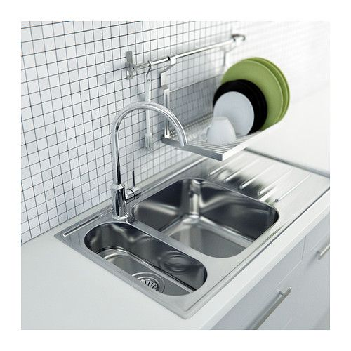 GRUNDTAL Dish drainer, stainless steel | Dish drainers, Countertop ...