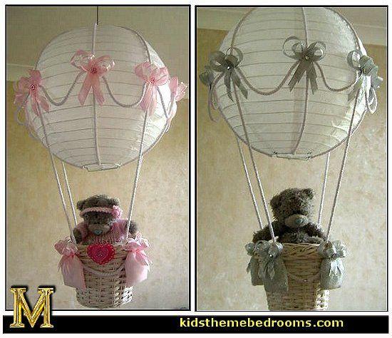 Hot air balloon lamp made with paper lantern shade i