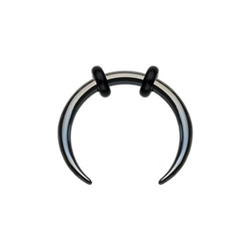 Sold as a Pair Classic Dimpled 316L Surgical 316L Surgical Steel Horseshoe Circular Barbell