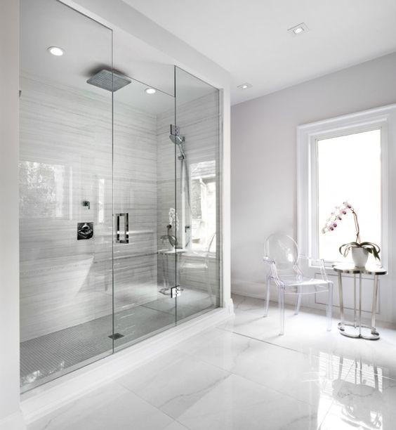 Begehbare Dusche Glas : begehbare glas dusche graue wandfliesen bad begehbare begehbare glas