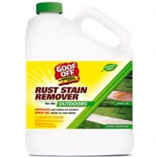 Goof off rust off stain remover for driveway and outside for Driveway stain remover