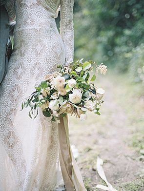 Wedding Inspiration | Lace Wedding Dress | Wedding Bouquet | Wedding Photography by McCall Burau
