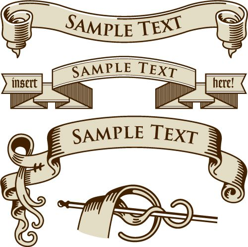 Free Vector European Old Ribbon Vector Graphic Available For Free Download At 4vector Com Check Out Our Collect Banner Vector Vector Free Free Vector Graphics