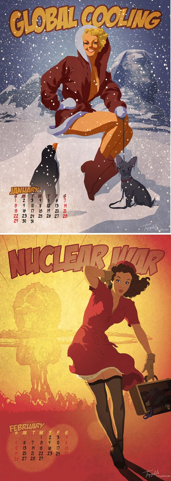 pin ups announces the end of the world as we know it....