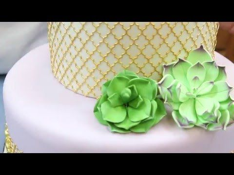 Tiered Cake with Succulents