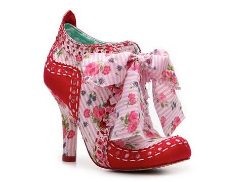 """Irregular Choice Abigail Bootie - I'm not pinning this because I like it; I'm pinning it for the """"holy crap on a cracker"""" nature of this shoe. Wow."""