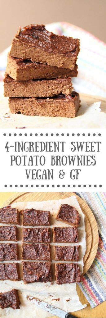 This 4-ingredient vegan sweet potato brownies recipe is fudgy, super simple to make and gluten-free too. Whip up a batch for a healthy treat!