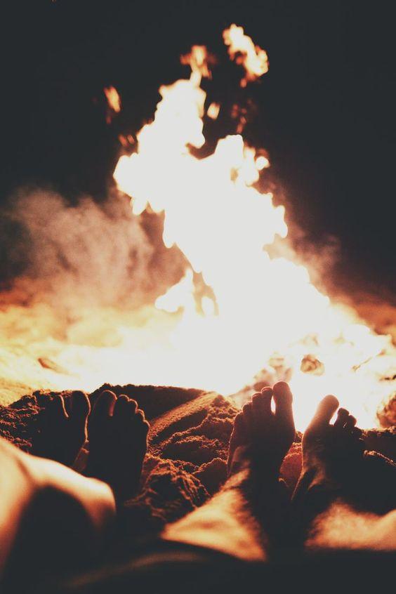 O fogo não só aquece....