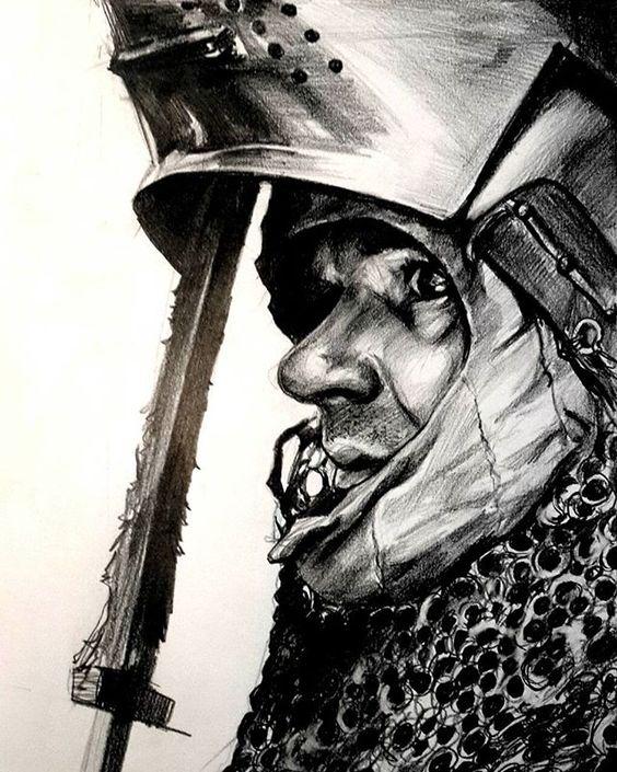 #drawing #art #knight #portrait #sketchbook