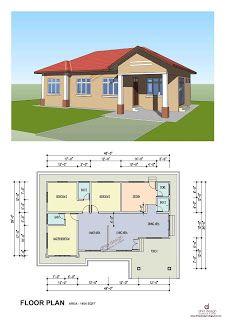 Reka Rumah Anda Di Sini Koleksi Kediaman Rekabentuk Rumah Kediaman Setingkat Denah Rumah Denah Lantai Rumah