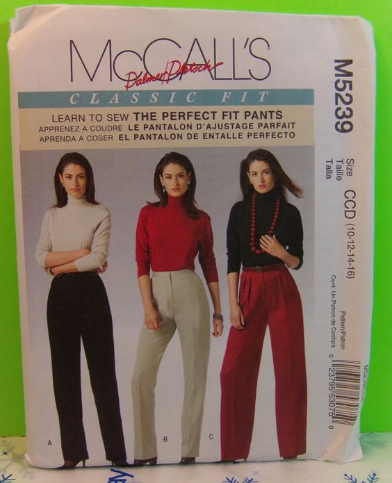 McCall's M5239 Pattern Dalmer Pletsch Classic Fit The Perfect Fit Pants Size CCD (10-12-14-16)