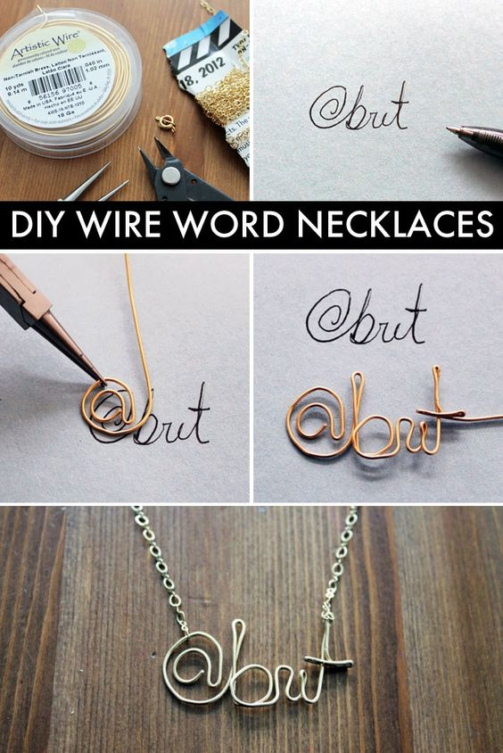 Wire name, Name necklace and Wire