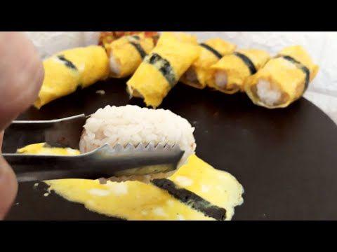 Seperti Telur Sushi Tapi Tuna Onigiri Rice Ball Dalam Egg Rolls Enak Banget Buat Menu Sarapan Youtube Sushi Gulung Makanan Sushi