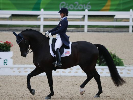The United States took bronze in open's team dressage.