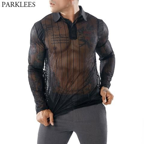 Black Faux Leather Mens T-Shirt Lace-up Clubwear Male Muscle Top Tee Blouse Hot