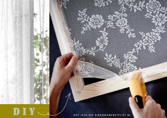 DIY Raamdecoratie kinderkamer idee | ikea via Kinderkamerstylist.nl