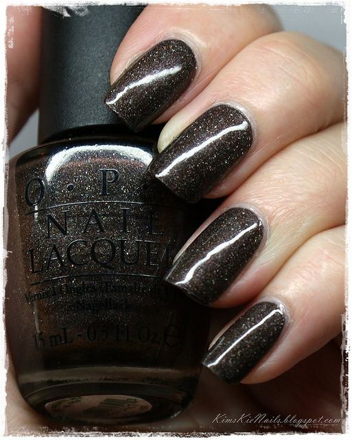 "OPI ""My Private Jet"" nail polish - my favorite :) it looks like outer space on your nails <3"