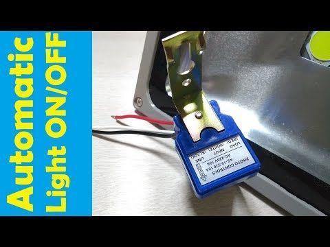 Install Automatic Light Sensor Switch Led Floodlight Auto Day