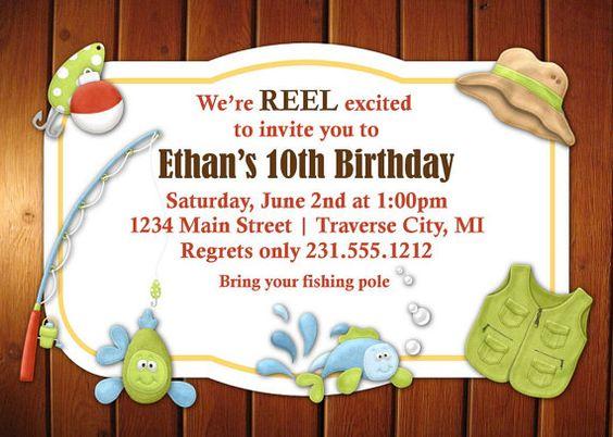 Fishing invitation kids fishing party invitation you for Fishing baby shower invitations